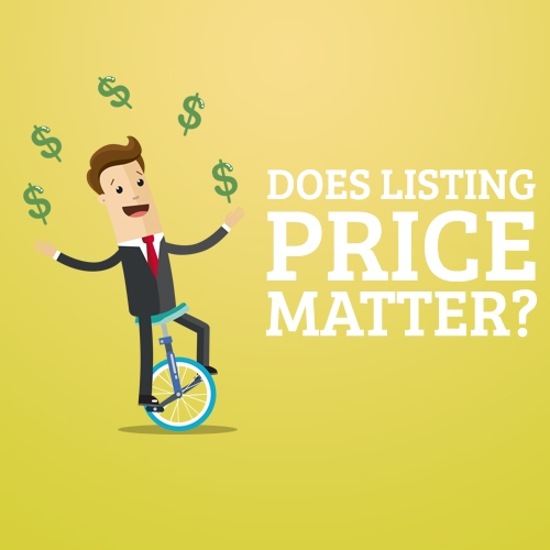 Does Listing Price Matter?